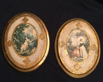 Pair Italian Florentine Baroque Plaques