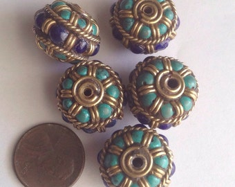 Turquose and coral beads