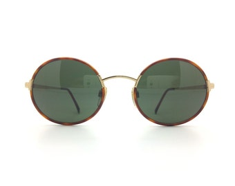 Genuine Vintage 1980s Oliver by Valentino 1335 Round Sunglasses // New Old Stock