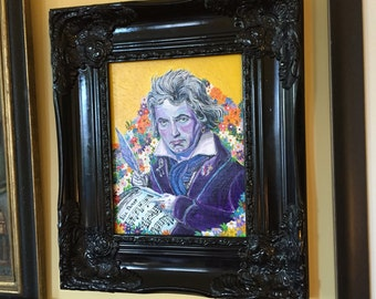 Original acrylic painting Beethoven