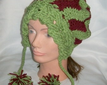 Crochet Chevron Hat - Hand Made