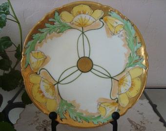 Yellow Poppies plate