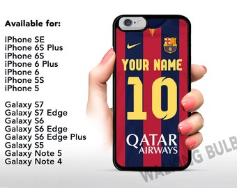 FC BARCELONA Personalized - Custom with Your Name & Jersey Number iPhone / Samsung Galaxy Rubber Phone Case High Quality Fast Shipping!!!