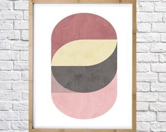 Poster of abstract geometric circles,  digital print, instant download, minimal art, printable art, wall decor, digital download