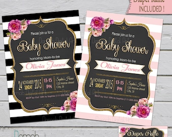 baby shower invitation girl | etsy, Baby shower invitations