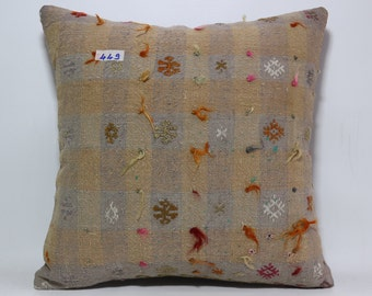 patterned kilim pillow 20x20 inches turkish kilim pillow decorative kilim pillow home sofa room decor pillow SP5050-449