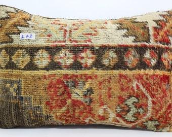 16x24 inches lumbar carpet pillow cover throw pillow handwoven vintage Turkish carpet pillow cushion cover decorative pillows SP4060-178