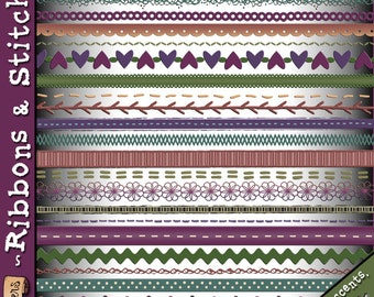 Ribbons & Stitches Clip Art Download