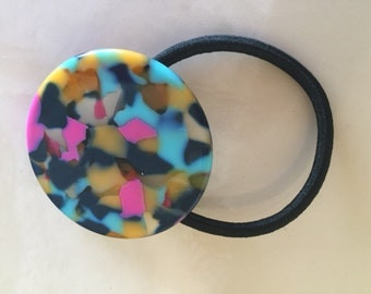Multicolored Circle Ponytail Holder Elastic Hair Band Hair Elastics