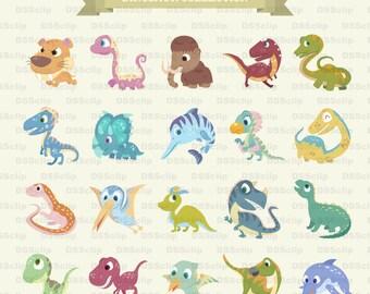 SALE - Limited Time Offer -  Adorable Dinosaur clip art - Buy 2 Get 1 Free!!