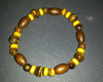 """Bracelet wood and eye of the Tiger: """"Wild intended"""""""