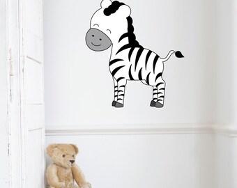 Zebra Kids Wall Decal Sticker PC0311