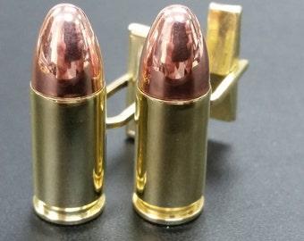 Bullet Cufflinks 9MM Real Bullet -