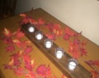 Barn Board Candle Plank