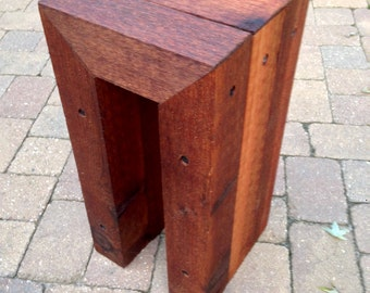 rustic wood end table night stand side table