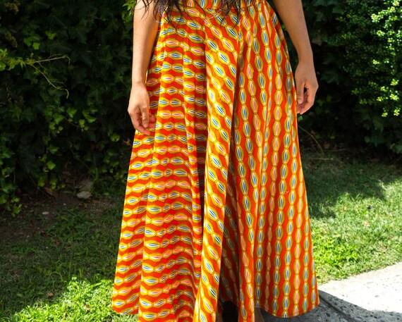 Ankara Crop Top and Skirt Set