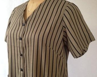 1990s striped maxi dress