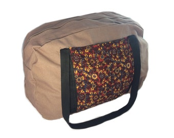 Brown Canvas Travel Bag