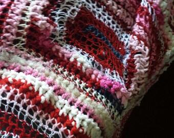 Crocheted Valentine Throw Blanket