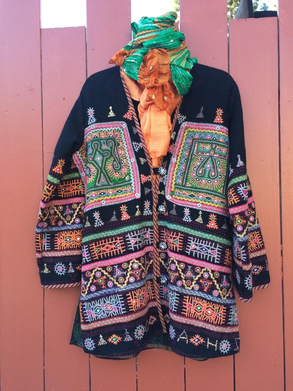 Sold rabari coat tribal wool one of a kind women s ethnic