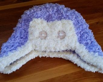 SALE!! Super Plush Aviator Hat in Purple