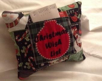 Christmas Wish List Pillow
