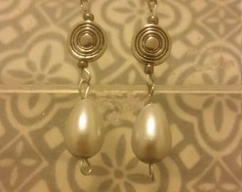 Silver Tear Drop Dangle Earrings
