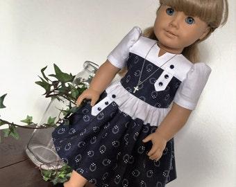 1940's inspired dress fits American girl dolls