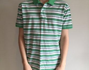 Rare Levis Retro Striped Polo Shirt