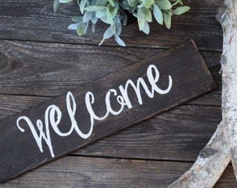 Reclaimed Wood Welcome Sign - Rustic Decor - Home Decor - Wood - Rustic Signs -