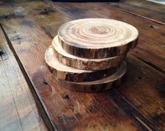 Wood Coasters - Set of 4