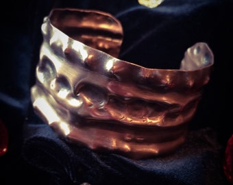 Copper Metalwork Cuff Bracelet