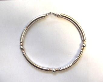 "Vintage Sterling Silver 16"" Choker Necklace"