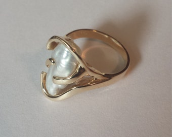 14K Yellow Gold Ring With Natural Pearl