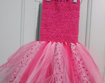 Tutu-strapless pink fuchsia, one size from 2 to 6 years