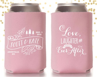 To Love Laughter and Happily Ever After Winter Mountain Can Cooler Beer Cozy