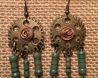Techno Steampunk Earrings