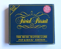 Trivial Pursuit The Music Master Game Pop & Rock Edition // Vintage Game // 1990's // Family Game Night // Cassette Tape Game