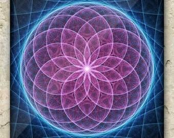FIBONACCI'S FIBRATION ART – Fractal Greeting Card: sacred geometry, mandala, cosmic, matrix, taurus, psychedelic, holistic, metaphysical