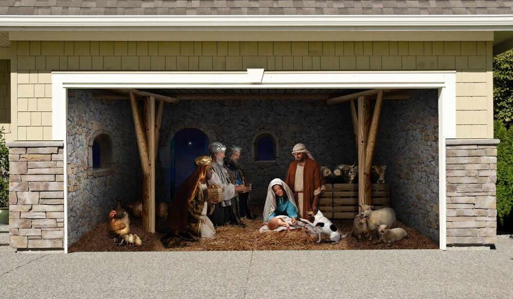 Outdoor Decoration Nativity Scene Garage Door By Anydoordecor