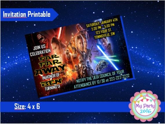 Star Wars Birthday Party Invitation - Printable