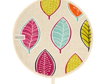 Insulated Aga Chefs Pad - 'Bright leaf' design