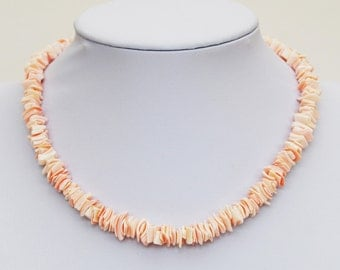 OLD CORAL CHIPS - Artisan Necklace - Originating from Africa