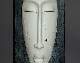 Ceramic Wall Mask. Unique gift. UK sellers.