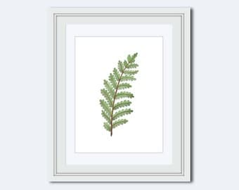 Modern wall decor - fern leaf print - leaf print - leaf Wall Art - leaf decor - wall art printable - Printable Art - printable wall decor
