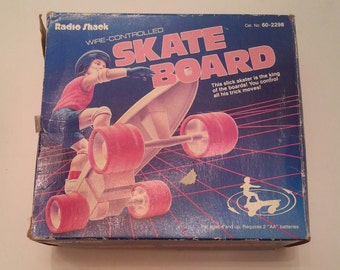 Vintage Remote Control Skate board Toy Wire Controlled Radio Shack