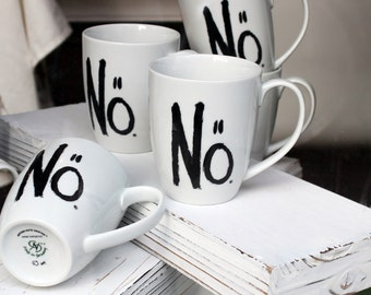 """Special Offer! 4 Mugs """"Nö"""" (""""Nope"""") - eDITION gUTE gEISTER"""