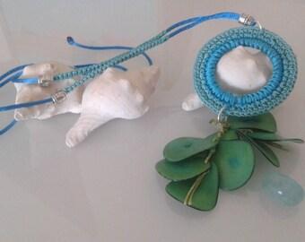Pendant crochet - crochet necklace