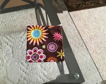 Flower zipper coin purse