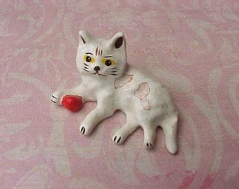 Sweet Little Miniature Doll House Kitty With Ball